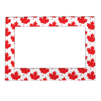 Canadian Maple Leaf Canada Day National Symbol Photo Frame Magnet