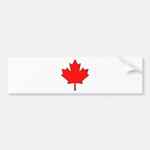 Canadian Maple Leaf Canada National Symbol Bumper Sticker