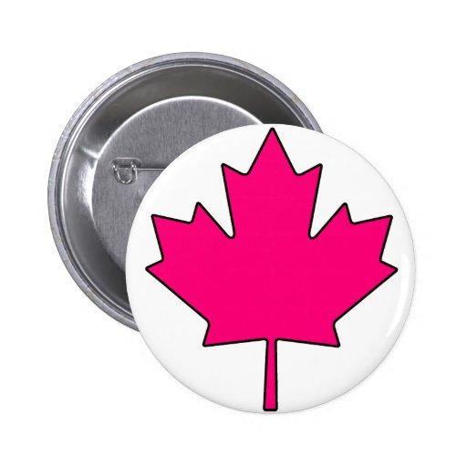 Canadian Maple Leaf Canada National Symbol 2 Inch Round Button