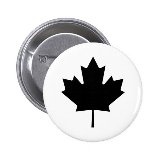 Canadian Maple Leaf Canada National Symbol Button