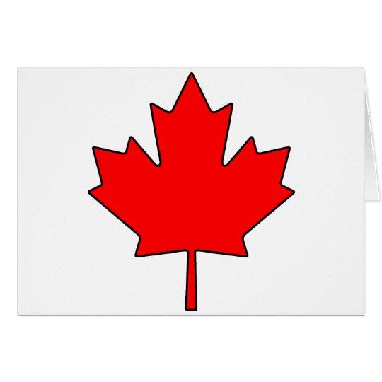 Canadian Maple Leaf Canada National Symbol Card