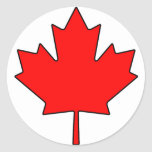 Canadian Maple Leaf Canada National Symbol Round Sticker