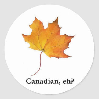 Canadian Maple Leaf Classic Round Sticker