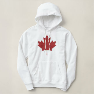 Canadian Maple Leaf Customized Embroidered Hoodie