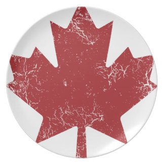 Canadian Maple Leaf (Distressed) Dinner Plate