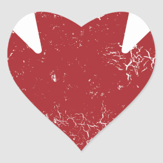 Canadian Maple Leaf (Distressed) Heart Sticker