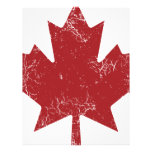 Canadian Maple Leaf (Distressed) Letterhead Template