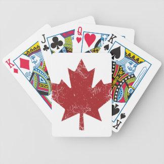 Canadian Maple Leaf (Distressed) Bicycle Card Decks
