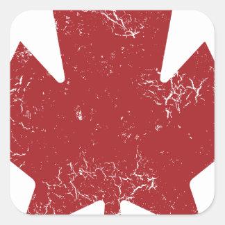 Canadian Maple Leaf (Distressed) Square Sticker