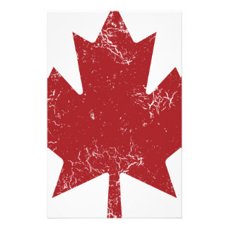 Canadian Maple Leaf (Distressed) Stationery