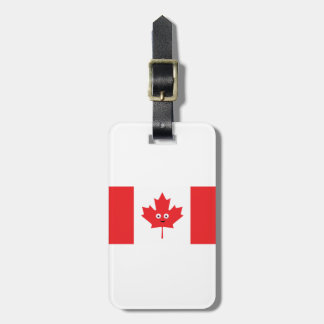 Canadian Maple Leaf Face Luggage Tag