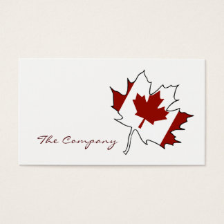 Canada maple leaf business cards templates zazzle for Business cards canada