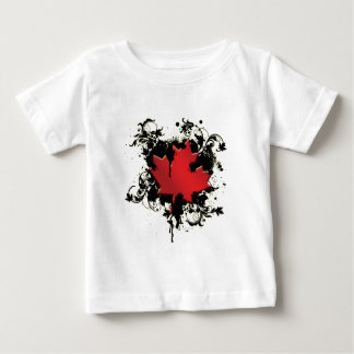 Canadian Maple Leaf (Grunge) Baby T-Shirt