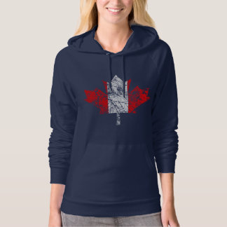 Canadian Maple Leaf Grunge Style CANADA Hoodie