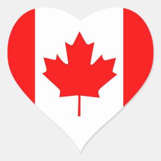 Canadian Maple Leaf Heart Sticker