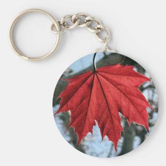 Canadian Maple Leaf Keychain
