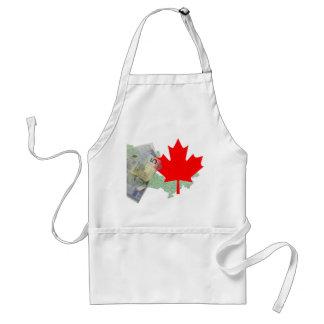 Canadian Maple Leaf & Money Apron