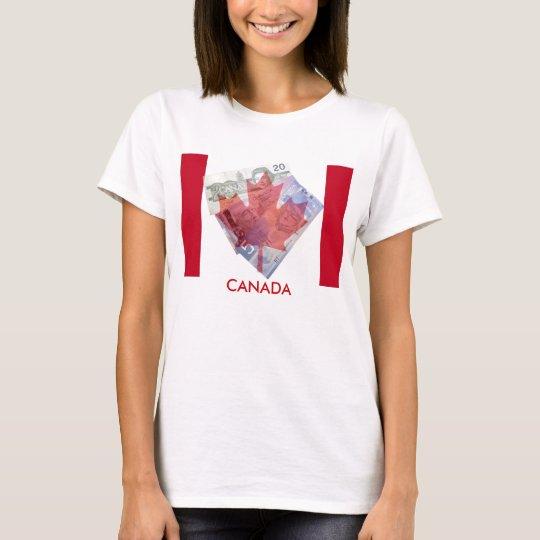 Canadian Maple Leaf & Money T-Shirt