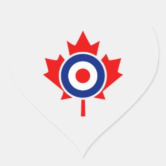 Canadian Maple Leaf Roundel Mod Badge Heart Sticker