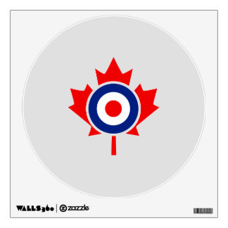 Canadian Maple Leaf Roundel Mod Badge Wall Sticker