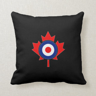 Canadian Maple Leaf Roundel Mod CANADA Throw Pillow