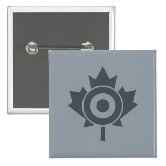 Canadian Maple Leaf Roundel Mod Tag 2 Inch Square Button