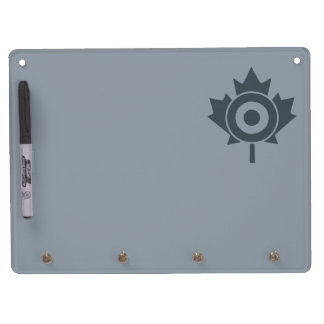 Canadian Maple Leaf Roundel Mod Tag Dry Erase Board With Keychain Holder