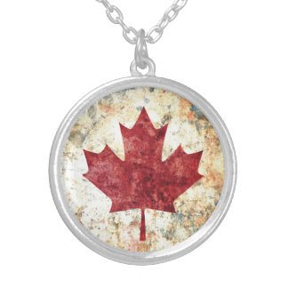 Canadian Maple Leaf Silver Plated Necklace