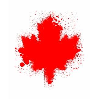 Canadian Maple Leaf Splash Tshirts shirt