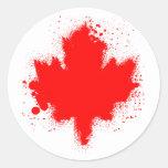 Canadian Maple Leaf Splash Tshirts Stickers