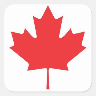 Canadian Maple Leaf Square Sticker
