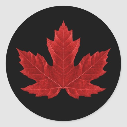 Canadian Maple Leaf Sticker