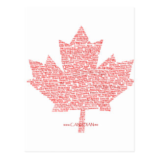 Canadian Maple Leaf Style Post Card