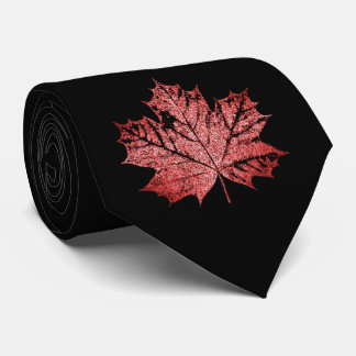Canadian Maple Leaf Tie