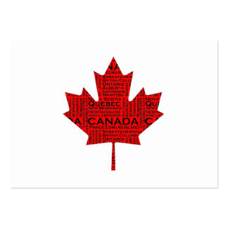 Canadian Maple Leaf w/Text Business Card