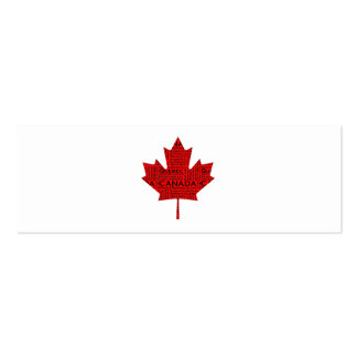 Canadian Maple Leaf w/Text Business Card Template