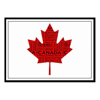 Canadian Maple Leaf w/Text Business Card Templates