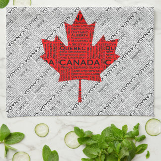 Canadian Maple Leaf w Text Towel