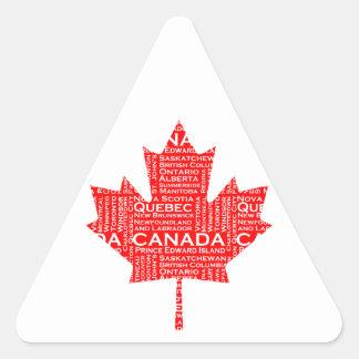 Canadian Maple Leaf w/Text Sticker
