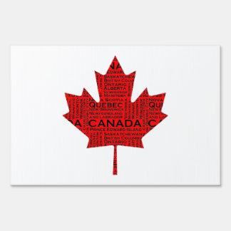 Canadian Maple Leaf w/Text Yard Signs