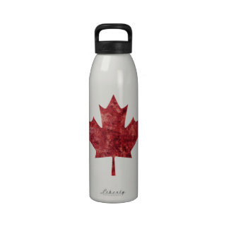 Canadian Maple Leaf Water Bottles