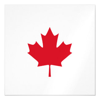 Canadian Maple Leaf Magnetic Invitations