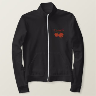 Canadian Maple Leaves Embroidered Jacket