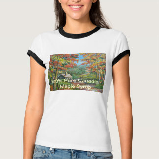 Canadian Maple Syrup Ladies T-shirt
