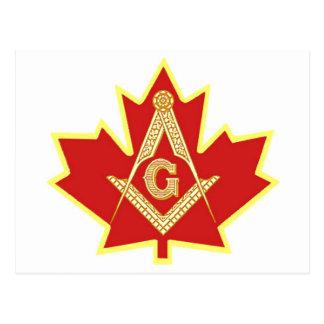 CANADIAN MASON POSTCARD