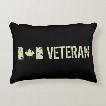 Canadian Military Veteran Accent Pillow