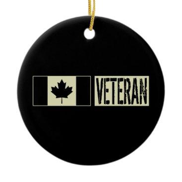 Canadian Military Veteran Ceramic Ornament
