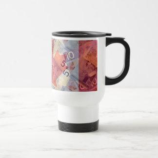 Canadian Money & Flag Travel Mug