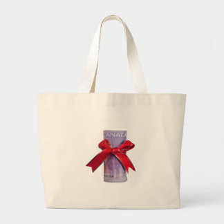 Canadian money gift canvas bag