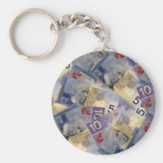 Canadian Money Keychain